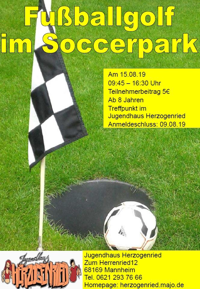 Fussballgolf Im Soccerpark