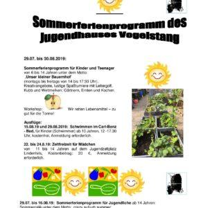 Ferienprogramm Juha Vogelstang
